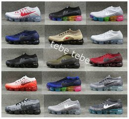 Wholesale Max Men Running Shoes - 2018 Vapor Maxes x CDG COMME Mesh Knitting Weaving Running Shoes For Men Women Sports des GARCONS Weightlight Sneakers Size 36-45