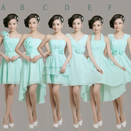 Wholesale Chiffon Flowers Junior Bridesmaid Dress - Pleated Short Chiffon Junior Bridesmaid Dress With Flower Lace Up 2016 New Wedding Guest Dress Ice Blue Gowns