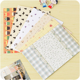Wholesale Cartoon Post Card - Wholesale-5sheets lot Kawaii style cartoon envelope for post cards letter thanks note wishes note 17.5*12.5cm