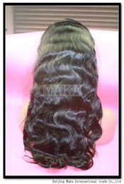 Wholesale Silky Indian Body Wave - Beauty Brazilian Hair Wigs For Black Women Natural Color Body Wave Human Hair Wigs Cheap Glueless Full Lace Wig