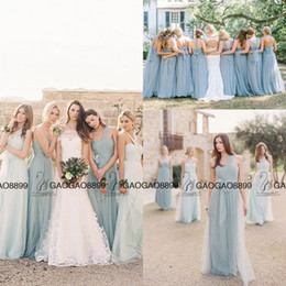 Wholesale Pink Sea Glass - Jenny Yoo Convertible Sea Glass Elegant Boho Beach Bridesmaid Dresses 2016 Custom Make Cheap Maid of Honor Wedding Party Bridesmaids Gown