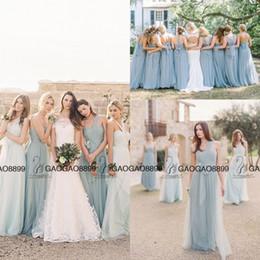 Wholesale dresses summer sea - Jenny Yoo Convertible Sea Glass Elegant Boho Beach Bridesmaid Dresses 2016 Custom Make Cheap Maid of Honor Wedding Party Bridesmaids Gown