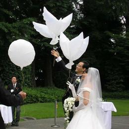 Wholesale Dive Toys - Wedding Decoration White Dove Balloon White Wedding Balloons Eco-Friendly Biodegradable Helium Balloons Party Favors