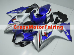 Wholesale Silver Blue Gsxr Fairings - 3 gifts New Fairing For SUZUKI GSX-R1000 K7 07 08 GSX R1000 GSXR 1000 GSXR-1000 K7 07-08 GSXR1000 2007 2008 Bodywork silver blue white