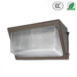 Wholesale Led Wells - UL DLC Approve Outdoor LED Wall Pack Light 60W 80W 100W Industrial Wall Mount LED Lighting Daylights 5000K AC90-277V With Mean Well Driver
