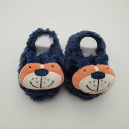 Wholesale Teddy Fabric Wholesale - Plush baby sock newborn winter baby girl prewalker shoes baby plush shoes infant winter sock plush toy teddy bear newborn warm shoes