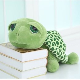 Wholesale Cute Turtle Plush - Super Cute New 20cm Super Green Big Eyes Stuffed Tortoise Turtle Animal Plush Baby Toy Gift