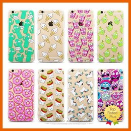 Wholesale Silicone Cover For Blackberry - Cute Pattern Soft Silicone TPU Clear Hard Back Case Cover Cartoon Protective Cases For iPhone 5 6 6s Plus