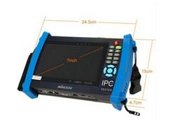 IPC8600 touch screen da 7 pollici wifi, IP + Analog + HD coassiale Tester TVI CVI AHD SDI Tetser wifi incorporato IPC8600 sostegno onvfi poe da maschera per freddo fornitori