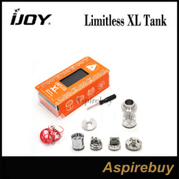 Wholesale Ups Systems Wholesalers - IJOY Limitless XL Sub ohm & RTA 4ML Tank with XL-C4 Light-up Chip Coil Fan-styled Airflow Control Unique RDA Swappable Deck System Genius