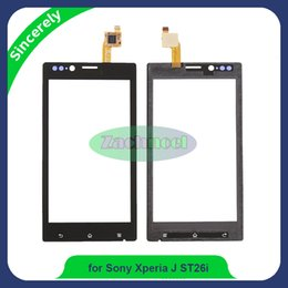 Wholesale Xperia Screen Replacement - Touch Screen Digitizer For Sony Xperia J ST26i ST26 ST26a Front Touch Glass Lens Panel With Sensor Replacement Black