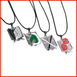Атака на Титан Shingeki нет Kyojin разведчик полка крылья свободы Багге ожерелье аниме ювелирные изделия для мужчин женщин 161114 от Поставщики ожерелье shingeki