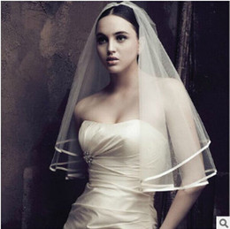 Wholesale One Shoulder Layer Wedding Dress - wholesale wedding dress bridal veils without comb hair accessories wedding the bride veil use in PhotoShop and wedding