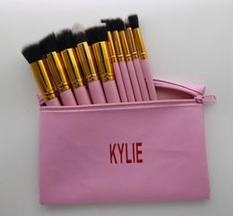 Wholesale Nylon Brush Set - 2018 Makeup Brushes 10 pcs a set for Health Christmas makeup brushes sets DHL FREE