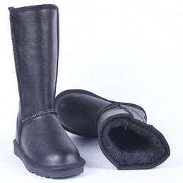 Wholesale Tall High Heel Waterproof Boots - Winter New Snow Boot Women Waterproof Leather Fashion Boot Ladies Tall Knee-High Plush Warm Long Boots Plus Size 43 44