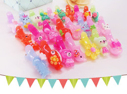 Wholesale Kinder Barrette - New children pink duck folder, more than 100 kinds of cartoon accessories, environmental protection materials, mixed jelly folder stickers f