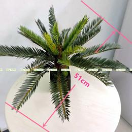 Wholesale Palms Tree Decor - 2017 New Artificial Phoenix Coconut Palm Cycas Fern Plant Tree Christmas Home Outdoor Sago Office Furniture Decor Bush Green