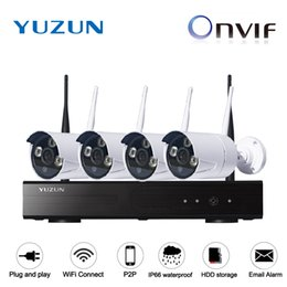 Wholesale Wireless Home Alarm Systems Kit - IP max 300m cascade mode home security alarm camera systems wireless wifi camera kit outdoor and indoor IP66 bullet camera