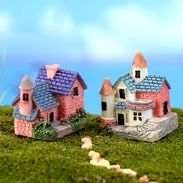 Wholesale Arts Crafts Homes - Wholesale- House Cottages Mini Craft Miniature Fairy Garden Home Decoration Houses Micro Landscaping Decor DIY Accessories
