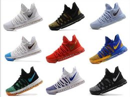 Wholesale Cheaper Kd Shoes - Cheaper 2017 Kevin Durant 10 Basketball Shoes Men High Quality KD 10 Training Sneakers KD10 Athletic Shoes Size 7-12 with box