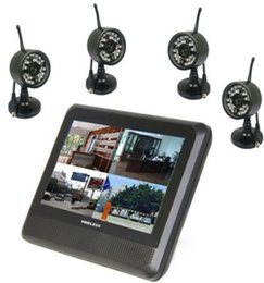 Wholesale Dvr System Lcd Monitor - 4CH digital wireless camera DVR system outdoor weatherproof 7 inch LCD monitor with integrated video recorder free shipping