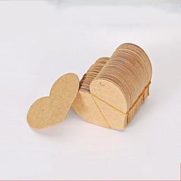 Tarjetas de felicitación diy online-Etiquetas de papel Kraft DIY para hornear Cake Hang Label en forma de corazón Brown Tarjeta de felicitación Nueva llegada 0 03xqa B R
