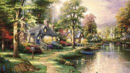 Wholesale Oil Canvas Reproduction - Thomas Kinkade Modern Landscape Oil Painting Reproduction High Quality Giclee Print on Canvas Modern Art Decor TK073