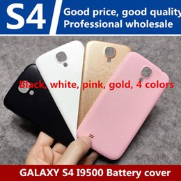 Wholesale Oem Back Cover - High quality OEM Battery Door Rear Cover Back Housing For Samsung Galaxy S4 I9500 Black White 10PCS
