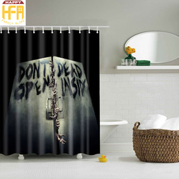 Wholesale Curtain Printing - Bathroom Shower Curtains Scary Hand Pattern Creative Digital Printing Bath Towel Curtain High Quality Bathroom Drop Shipping