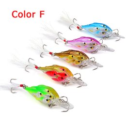Wholesale Shad Baits - New Crank bait 7mm 6.5g Threadfin Shad Crankbait wobbler saltwater bait 5colors 3D eyes Live Target fly fishing lure