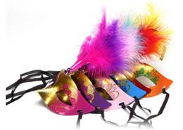 Nouveau Parti Masques Or Tissu Enduit Fleur Côté Vénitien Mascarade Party Masque Sur Bâton Carnaval Halloween Costume Mix Couleur Livraison Gratuite ? partir de fabricateur