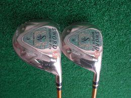 Wholesale Golf Wood Head Covers - Katana Sniper Fairway Woods Gold Katana Woods Golf Clubs #3 #5 R S Flex Graphite Shaft With Head Cover