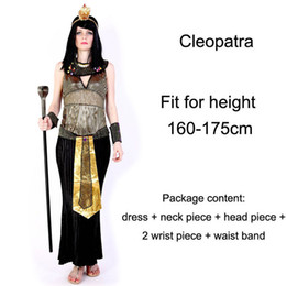 Wholesale Athletic Clothes For Women - clothes germany Halloween Costumes Ancient Egypt Egyptian Pharaoh King Empress Cleopatra Queen Priest Costume Cosplay Clothing for Men Women
