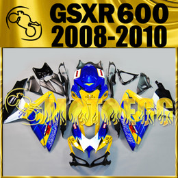 Wholesale High Quality Fairing Body Kit - Five Gifts Motoegg High Quality Injection Mold Fairings For Suzuki GSXR600 K8 2008-2010 GSX-R600 08-10 GSXR750 Body Kit Corona Yellow S68M01