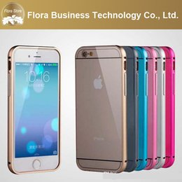 Wholesale Bumper Wholesale Iphone - Aluminum Alloy Metal Bumper Covers UltraThin Slim Beauty and Back Cases for iPhone 6 4.7 iphone 6 plus 5.5""