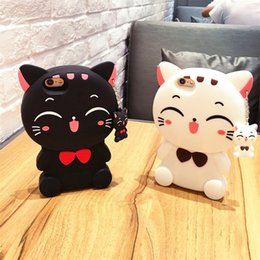 Wholesale Galaxy Grand Cute Cases - For iPhone7 Cute Cartoon Cat Soft Silicone Gel Case For iPhone 5 5S SE 6 6S 7 Plus Samsung Galaxy J5 J7 2016 Grand Prime G530 Huawei P8 Lite
