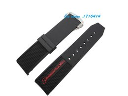 Wholesale Rubber Ends - Free Shipping 22mm NEW Men's Black Diver Silicone Rubber deployment clasp buckle Curved end Watch Band Strap For OMEGA Watch