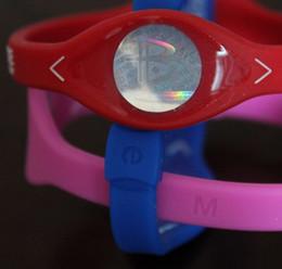 Wholesale Energy Power Band Bracelet - Free shipping 32 colors 5 sizes silicone with hologram bracelets power bands balance energy wristband 400Pcs lot with boxes