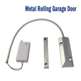 Wholesale 433 Mhz Sensors - Home Security Alarm Wireless Magnetic Door Sensor Contact Alarm System Accessories for metal rolling door 315 MHZ 433 MHZ OC-55W
