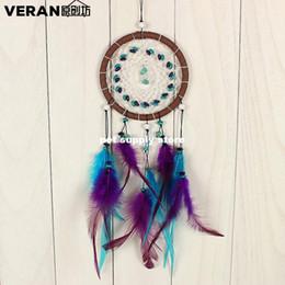 1 pcs Antique Imitation enchanté forêt Dreamcatcher cadeau fait à la main Dream Catcher net avec plumes Tenture murale décoration ornement ? partir de fabricateur