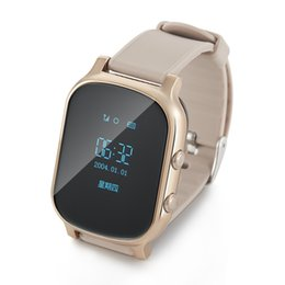 Wholesale Personal Gps Children Watch - GPS tracker watch for kids child watch gps bracelet google map call button personal android and iOS tracker gsm gps locator