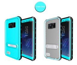 Wholesale Ip68 Mobile Phone - For Samsung S8 S8 Plus IP68 Waterproof Snowproof Dirtproof Shockproof cell phone Full Body Protective Cases With Mobile Phone Stand Holder