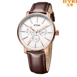 Wholesale Eyki Military - 2016 Men Watches Top Brand Luxury EYKI Men's Quartz Watch Waterproof Sport Military Watch Men Leather Relogio Masculino EET1046L