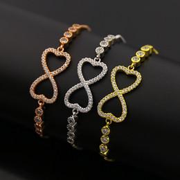 Wholesale Dainty Bracelets - 5pcs lot 18 k Gold plated Bracelet Dainty Cute Butterfly Bracelets for Women best friend CZ butterlfy bracelet