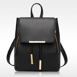 Wholesale Top Girls Backpack - Women Backpack High Quality PU Leather Mochila Escolar School Bags For Teenagers Girls Top-handle Backpacks Herald Fashion