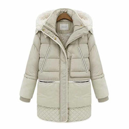 Wholesale Thick Wool Coat Girls - Hot Sale Large Size Women Coat Thick Down Jacket Down Girls Long Lamb's Wool Jacket Large Size Women's Free Shipping