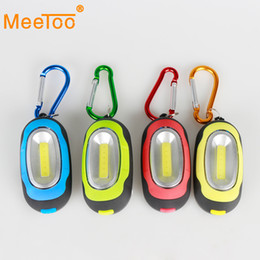 Wholesale Search Flashlight - 2017 Hot 3-Mode COB LED Flashlight Torch With Keychain Magnetic Hunting Tent Portable Light Lamp Search Linternas Lanterna Lamp