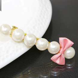 Wholesale Wholesale Hairpins - Hairpin Korean Special Beautiful Simulated Pearls Hairpins Hair Banana Clips Headwear Hair Accessories For Women Hair Jewelry