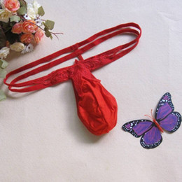 Wholesale Erotic Men Briefs - Wholesale-Sexy Pounch Jock straps For Men New Smooth G-string Thongs Briefs Underwear Gay Man Underwear Jockstrap Erotic Intimates Briefs