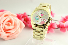 Wholesale Digital Analog Design - 2017 Selling Cartoon pattern Clock dial Women Quartz High-quality Fashion Watch Full Steel Watches Fashion Luxury Design Reloj Mujer Gift